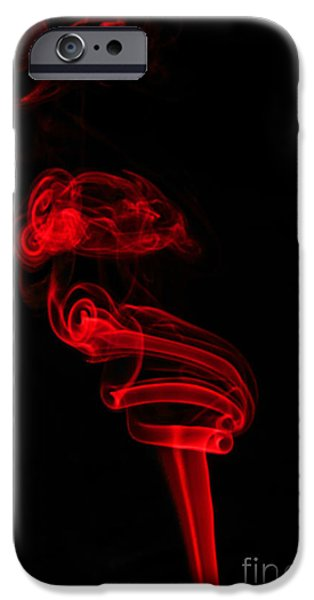 Abstract Digital Photographs iPhone Cases - Red Six iPhone Case by Steve Purnell