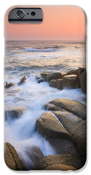 Ocean iPhone Cases - Red Sky At Morning iPhone Case by Mike  Dawson