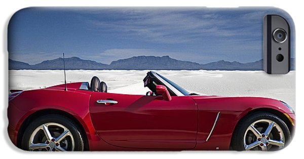 Convertible iPhone Cases - Red Sky White Sands iPhone Case by Douglas Pittman