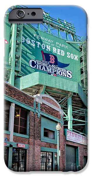 Fenway Park iPhone Cases - Red Sox 2013 Champions iPhone Case by Jerry Fornarotto