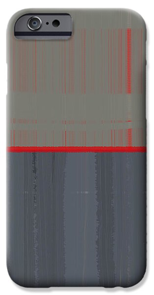 Abstract Forms iPhone Cases - Red Stripe iPhone Case by Naxart Studio
