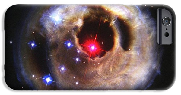 Stellar iPhone Cases - Red Supergiant V838 Monocerotis iPhone Case by Nasa