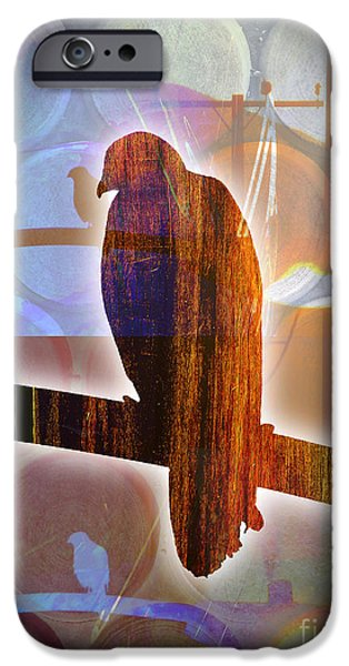 Red Tail Hawk Digital Art iPhone Cases - Red Tailed Hawk iPhone Case by Robert Ball