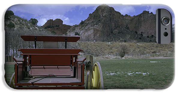 Ledge iPhone Cases - Red Wagon iPhone Case by Rachael Armstead