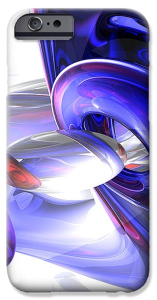 Red White and Blue Abstract iPhone Case by Alexander Butler