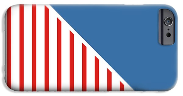 July 4th Digital Art iPhone Cases - Red White And Blue Triangles iPhone Case by Linda Woods