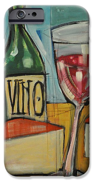red wine and cheese iPhone Case by Tim Nyberg