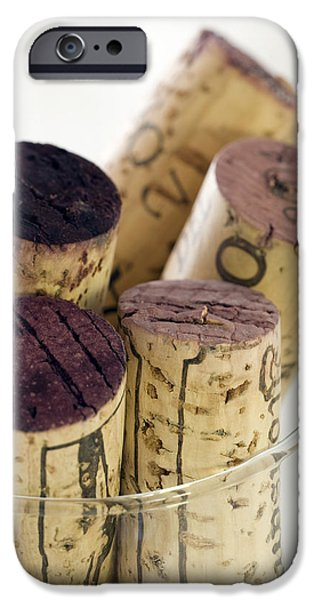 Red Wine iPhone Cases - Red wine corks iPhone Case by Frank Tschakert