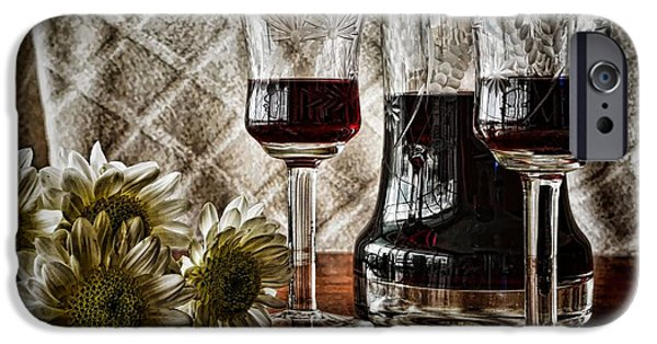 Table Wine iPhone Cases - Red Wine iPhone Case by Pamela Blizzard