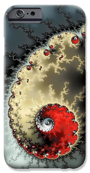 Virtual iPhone Cases - Red yellow grey and black - amazing mandelbrot fractal iPhone Case by Matthias Hauser