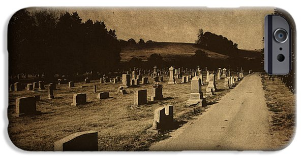 Graveyards iPhone Cases - Redemption Road iPhone Case by Amy Tyler