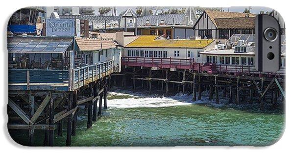 Beach Landscape iPhone Cases - Redondo Beach pier iPhone Case by Daniel Sinoca