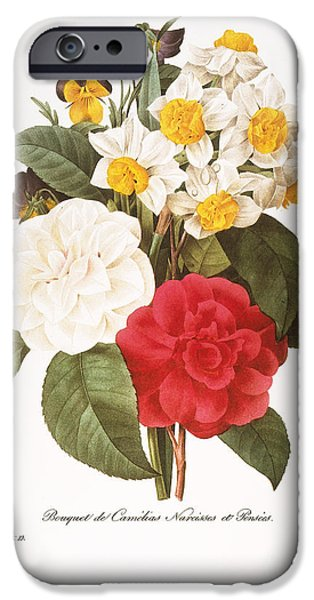 1833 Photographs iPhone Cases - Redoute: Bouquet, 1833 iPhone Case by Granger