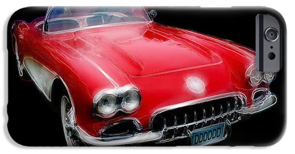 Automotive iPhone Cases - Redvette iPhone Case by Kenneth Johnson