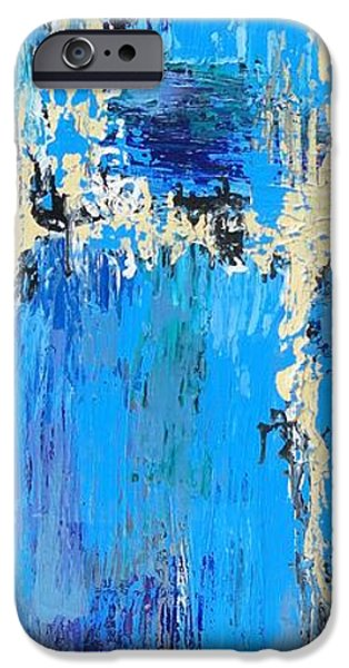 Abstract Seascape iPhone Cases - Reef iPhone Case by Elizabeth Langreiter