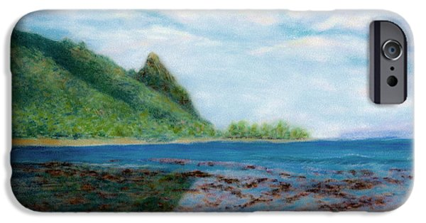 Graphic Design Pastels iPhone Cases - Reef Walk iPhone Case by Kenneth Grzesik