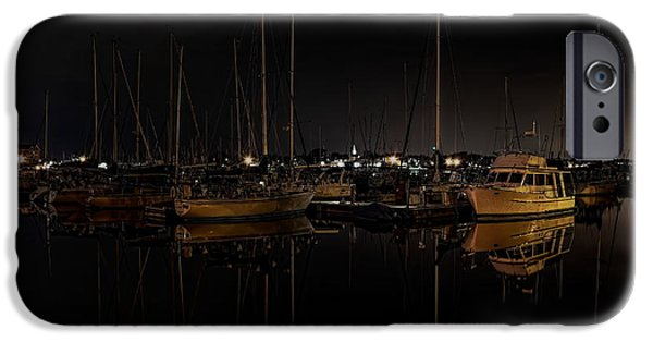 Chicago iPhone Cases - Reefpoint Marina After Dark iPhone Case by Dale Kauzlaric