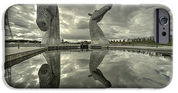 Stainless Steel iPhone Cases - Reflected Kelpies  iPhone Case by Rob Hawkins