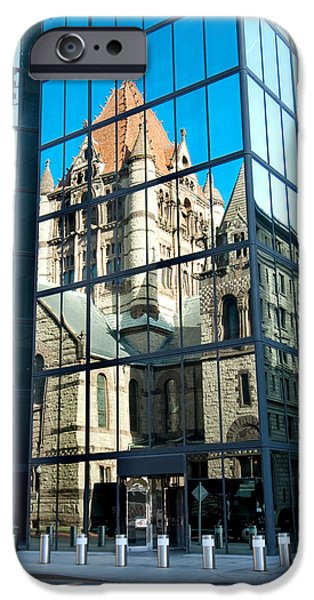City. Boston iPhone Cases - Reflecting on Religion iPhone Case by Greg Fortier