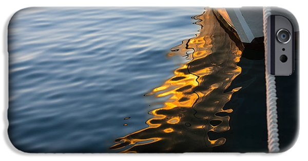 Sailing iPhone Cases - Reflecting on Yachts and Sunsets iPhone Case by Georgia Mizuleva