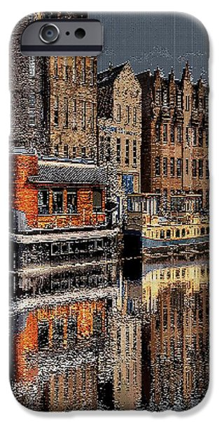 Tetris Block iPhone Cases - Reflection Bay iPhone Case by Jacquin