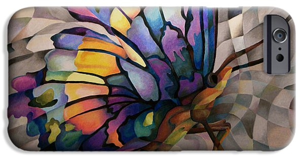 Mosaic Pastels iPhone Cases - Reflection iPhone Case by Marilyn Callahan