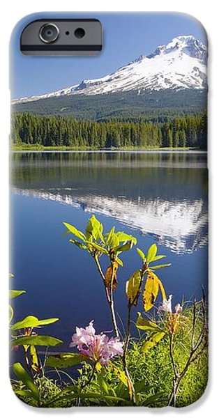 Reflection Of Mount Hood In Trillium iPhone Case by Craig Tuttle