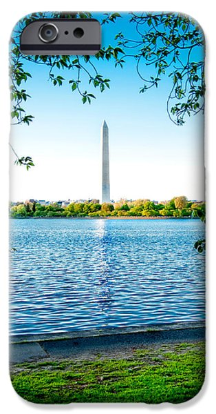 President iPhone Cases - Reflection of Washington iPhone Case by Greg Fortier