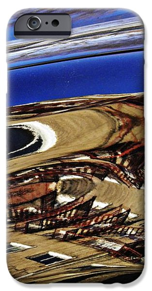 Reflection on a Parked Car 11 iPhone Case by Sarah Loft