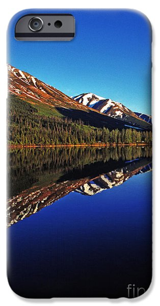Pm iPhone Cases - Reflection Summit Lake iPhone Case by Thomas R Fletcher