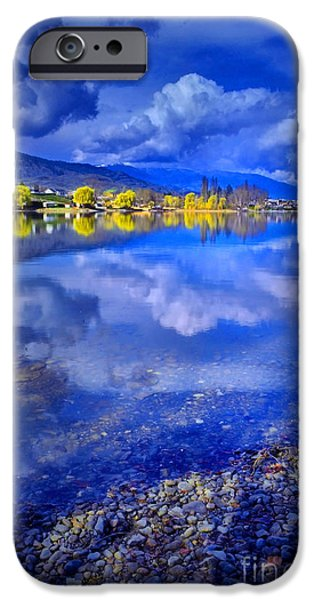 Willow Lake iPhone Cases - Reflections at Osoyoos Lake iPhone Case by Tara Turner