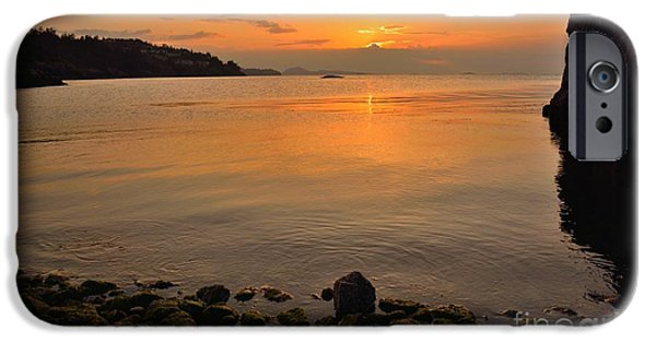 Beach Landscape iPhone Cases - Reflections iPhone Case by Elmar Langle
