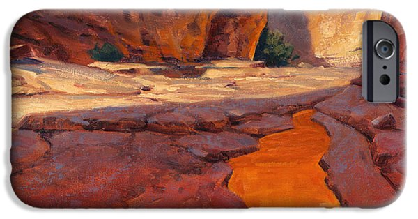 Recently Sold -  - Sedona iPhone Cases - Reflections in Red iPhone Case by Cody DeLong