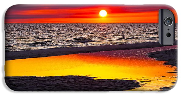 Sunset iPhone Cases - Reflections iPhone Case by Janet Fikar