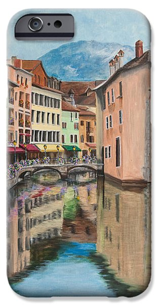Reflections Of Annecy iPhone Case by Charlotte Blanchard