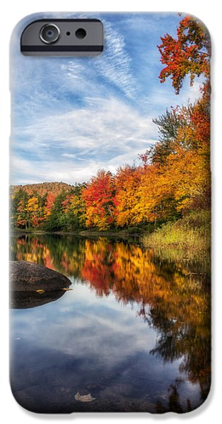 Beauty Mark Photographs iPhone Cases - Reflections of Fall iPhone Case by Mark Papke