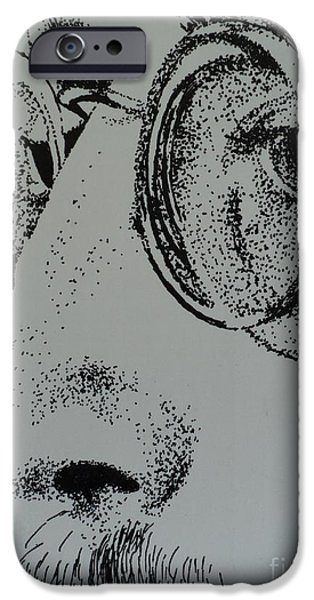 John Lennon Drawings iPhone Cases - Reflections of Peace John Lennon iPhone Case by Carla Carson