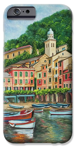 Reflections Of Portofino iPhone Case by Charlotte Blanchard