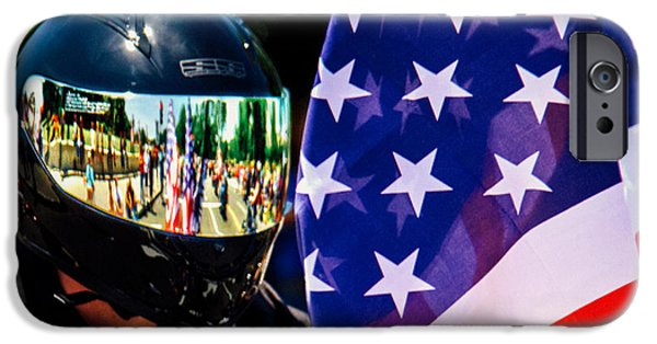 Old Glory iPhone Cases - Reflections Of Rolling Thunder iPhone Case by Tom Gari Gallery-Three-Photography
