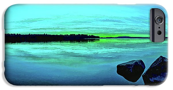 Downeast iPhone Cases - Reflections of Serenity Panorama iPhone Case by Bill Caldwell -        ABeautifulSky Photography