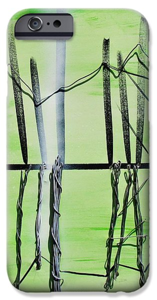 Line Sculptures iPhone Cases - Reflections of Strength iPhone Case by J Eric Minton
