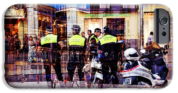 Police iPhone Cases - Reflections of the Day iPhone Case by Mary Machare