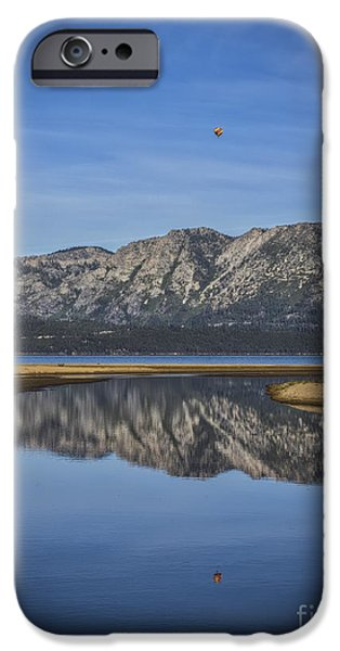 Beach Landscape iPhone Cases - Reflections Of The Morning iPhone Case by Mitch Shindelbower