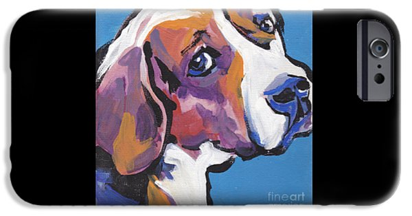 Beagles iPhone Cases - Regal Beagle iPhone Case by Lea