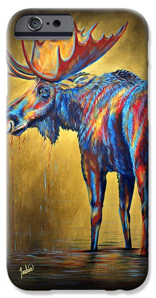 Recently Sold -  - Maine iPhone Cases - Regal Moose iPhone Case by Teshia Art