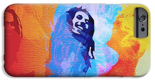 Bob Marley Portrait iPhone Cases - Reggae kings iPhone Case by Naxart Studio