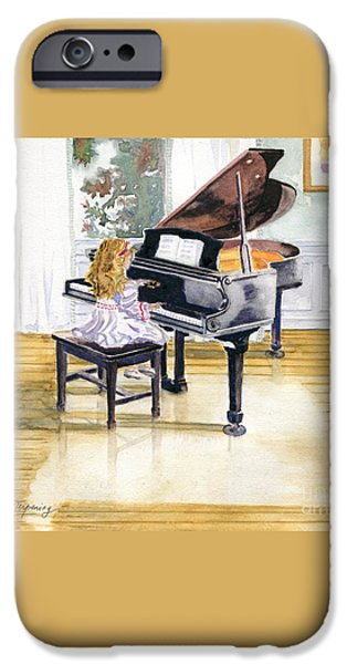 Piano iPhone Cases - Rehearsal iPhone Case by Melly Terpening