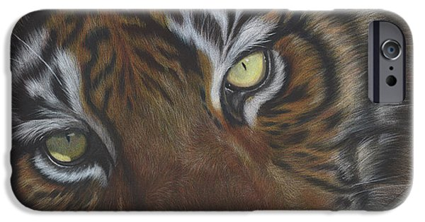 The Tiger Drawings iPhone Cases - Relax iPhone Case by Charne Gooch