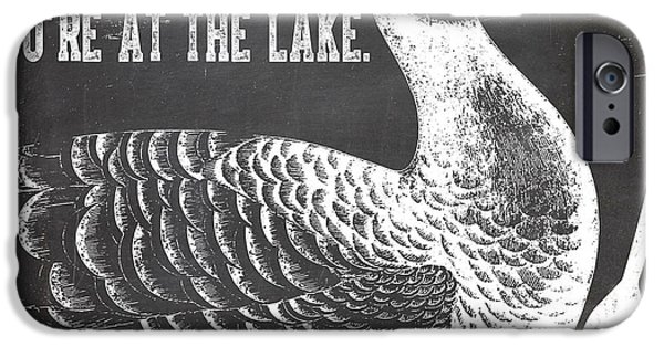 Lake House iPhone Cases - Relax Lake House Duck Sign iPhone Case by Mindy Sommers