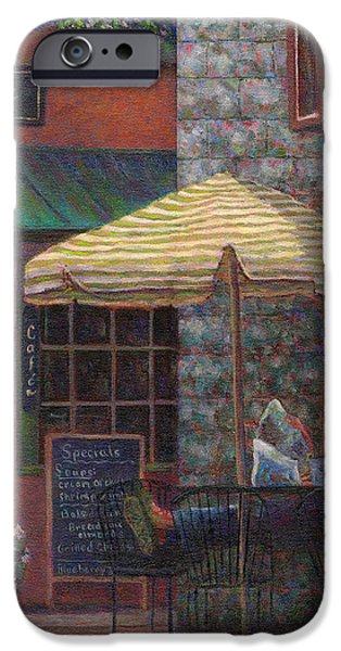 Relaxing at the Cafe iPhone Case by Susan Savad